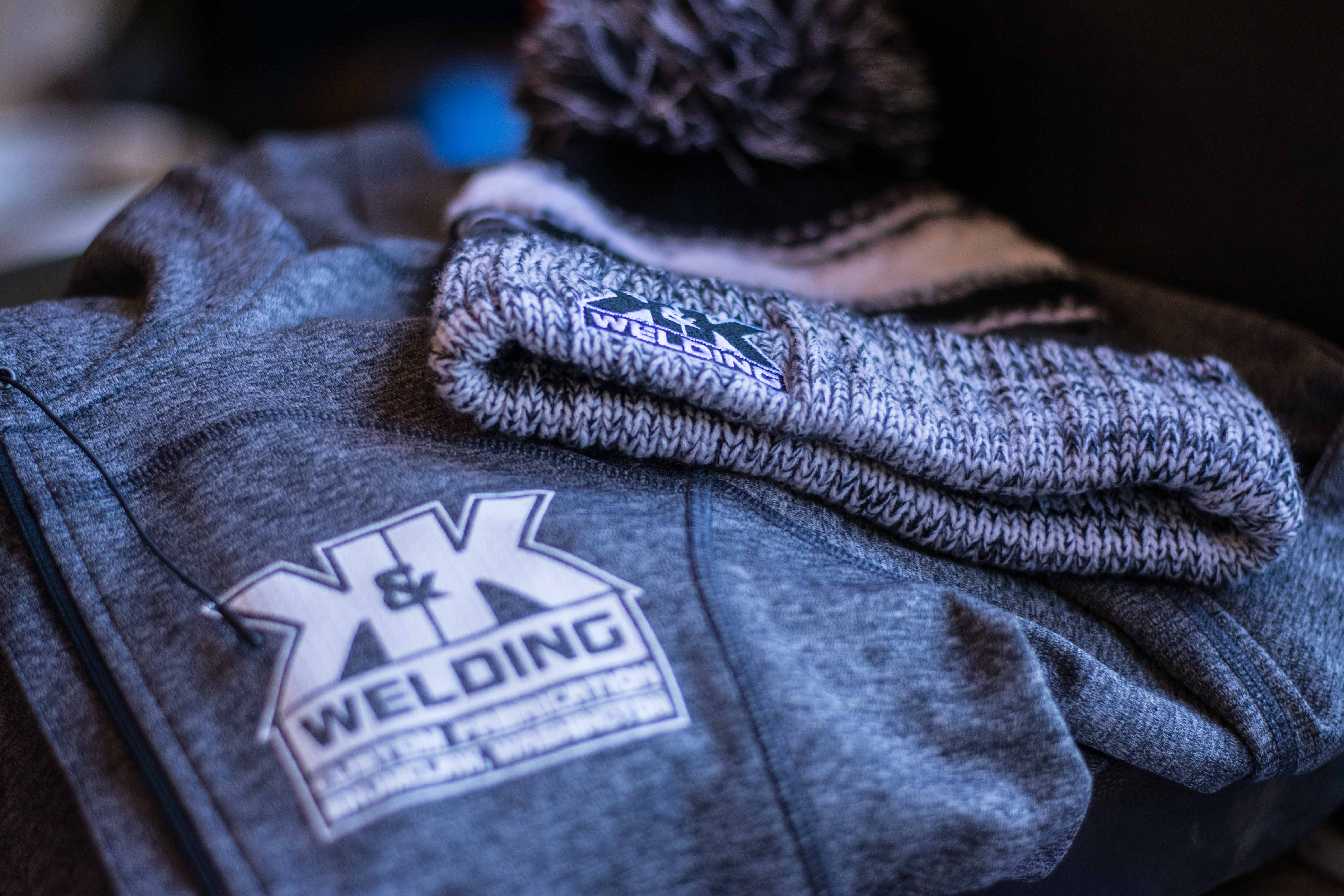 Featured College Hill Client K&K Welding  Custom Design Gear apparel and promotional products beanies welding