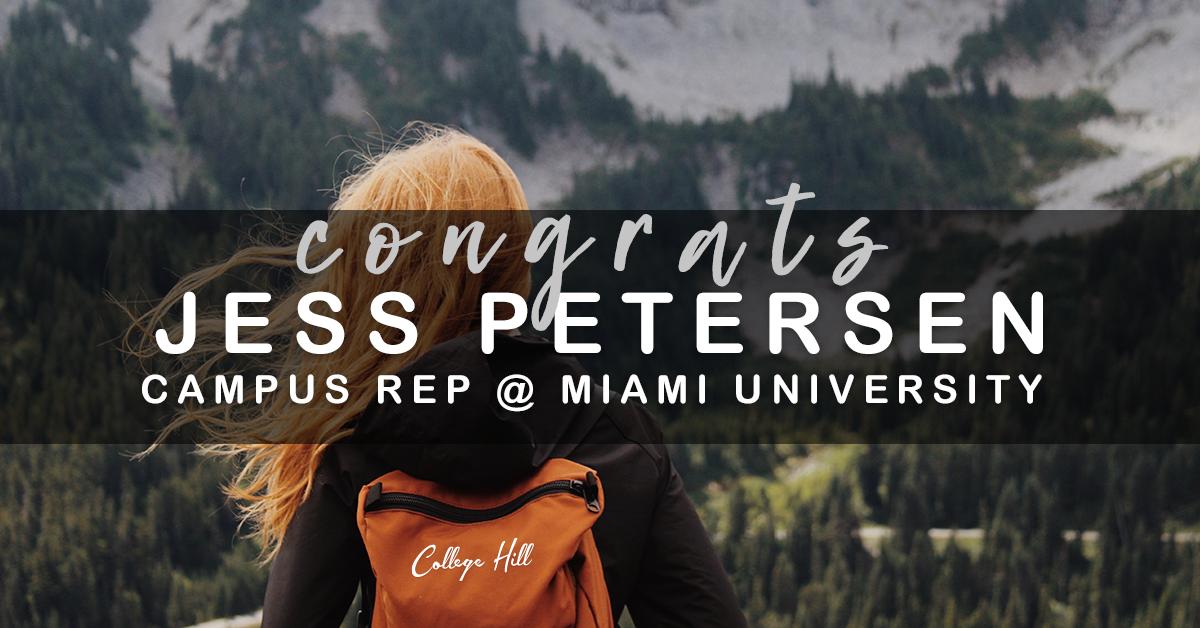 College Hill Campus Rep Jess Petersen