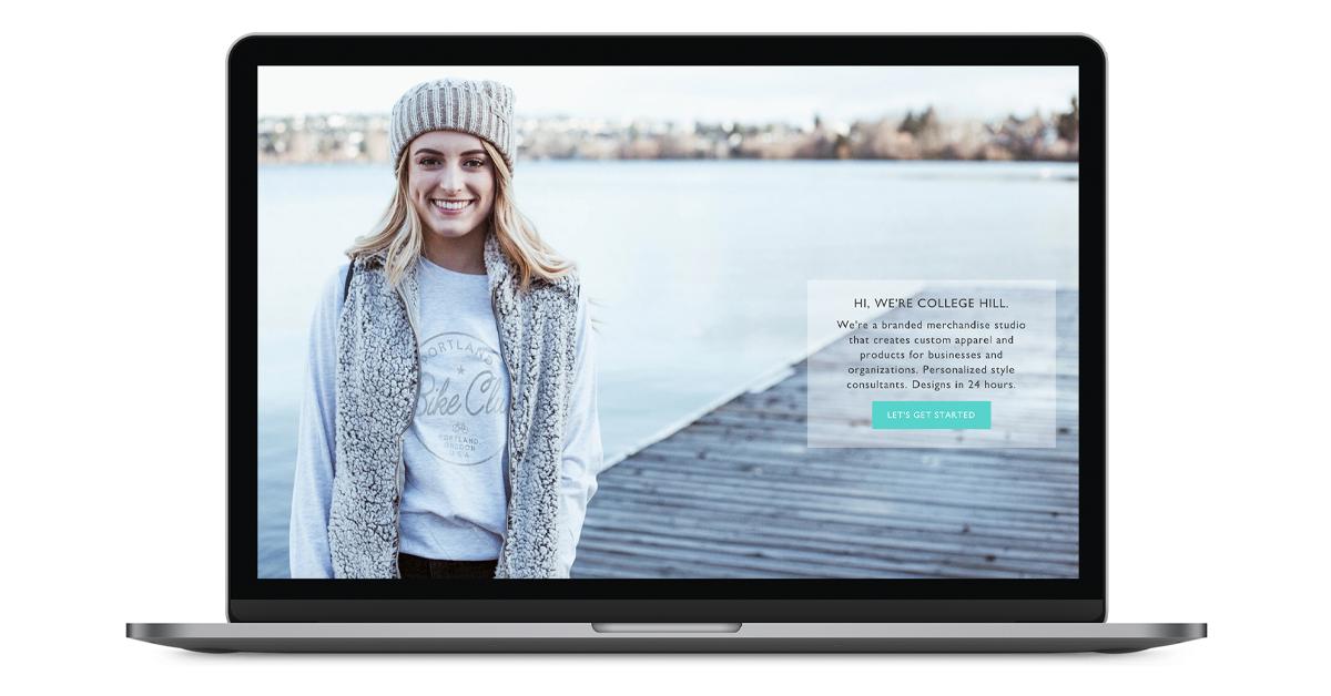 macbook - Header of landing page copy